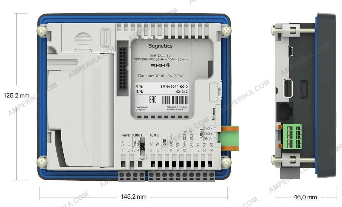 Шкаф управления вентиляцией AHVAC-W-2F3/3/F-S4