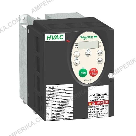 Частотный преобразователь ATV212HU15N4 1,5 кВт,480В, IP21